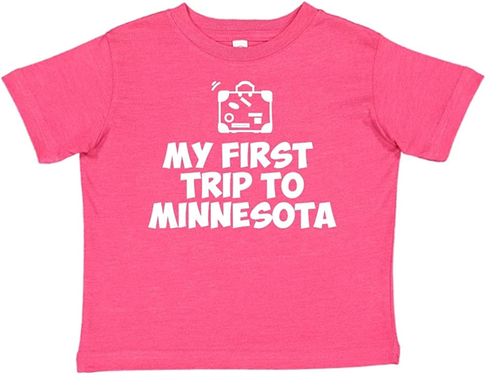Toddler//Kids Short Sleeve T-Shirt Mashed Clothing My First Trip to Minnesota