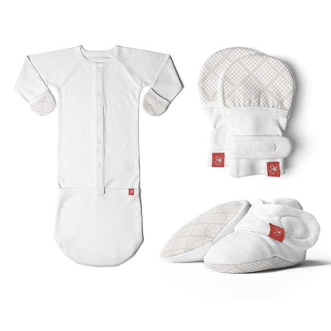 Amazon.com: Manoplas de bebé recién nacido, botines y saco ...