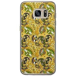 Loud Universe Samsung Galaxy S7 Colorful Paisley 8 Printed Transparent Edge Case - Multi Color