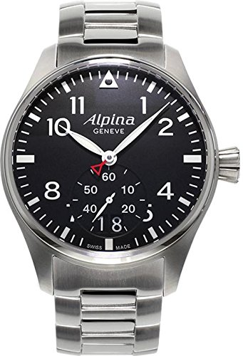 Alpina Men's AL280B4S6B Analog Display Swiss Quartz Silver Watch