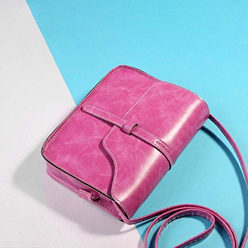 Bag Shoulder Cross Handle Hot Pink Bag Little Messenger Shoulder Leather Crossbody Leisure Body Paymenow Bag dPZdqT