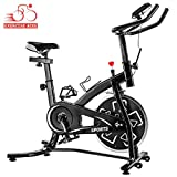 Norcia Indoor Spinning Cycling Bike, Belt Drive Indoor Exercise Bike, LCD Display Stationary Bike for Home Cardio Workout Bike Training