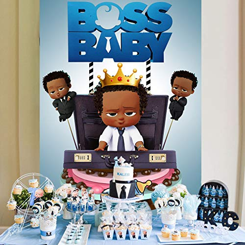 Boss Baby Backdrop for Boy Baby Shower Backgrounds Backdrop