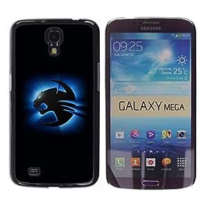 COVERO Samsung Galaxy Mega 6.3 I9200 SGH-i527 / Blue Cougar / Prima Delgada SLIM Casa Carcasa Funda Case Bandera Cover Armor Shell PC / Aliminium