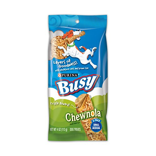 Purina Busy Chewnola With Wholesome Oats And Brown Rice Small/Medium Dog Treats - (12) 2 Ct. Pouches