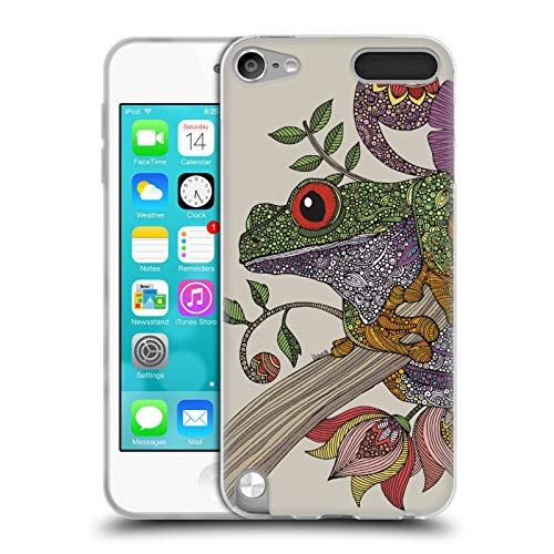 Official Valentina Phileus Frog Animals and Floral Soft Gel Case for Apple iPod Touch 5G 5th -