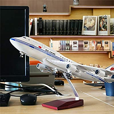 "24-Hours 18"" 1:130 Scale China Boeing 747 Model Airplane Kit with LED Light(Touch or Sound Control) for Decoration or Gift"