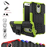 Mama Mouth Shockproof Heavy Duty Combo Hybrid Rugged Dual Layer Grip Cover with Kickstand For LG K8 2017 /LG K4 2017 /LG X300 /LG M200N /MS210 /LV3 (5.0') Smartphone,Green