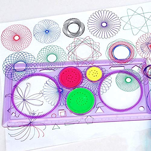GonPi | Drawing Toys | 1 Piece 1 Spiral Geometric Ruler Drawing Tools Student Stationery Toys Learning Art Collection Children Painting Toys