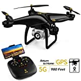 JJRC H68G GPS RC Drone with 1080P HD Camera, 30 Mins Flight Time 5G WiFi FPV Live Video Quadcopter Drone, Follow Me, Smart Return Home with Headless Mode for Adults (Black)