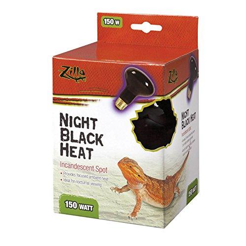 Zilla Reptile Terrarium Heat Lamps Incandescent Bulb, Black Spot, 150W
