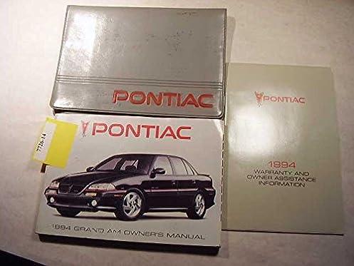 1994 pontiac grand am owners manual pontiac amazon com books rh amazon com 1994 pontiac grand am repair manual 1994 Pontiac Firebird