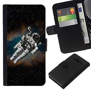 All Phone Most Case / Oferta Especial Cáscara Funda de cuero Monedero Cubierta de proteccion Caso / Wallet Case for Samsung Galaxy Core Prime // Astronaut Cosmonaut In Space