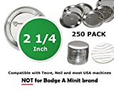 2.25 inch Round BackPin Buttons (250 Pack) Sets for Badge Making 2 1/4'' (56 mm)