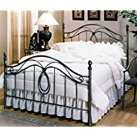Hillsdale Furniture 167BQR Milano Bed Set with Rails, Queen, Antique Pewter