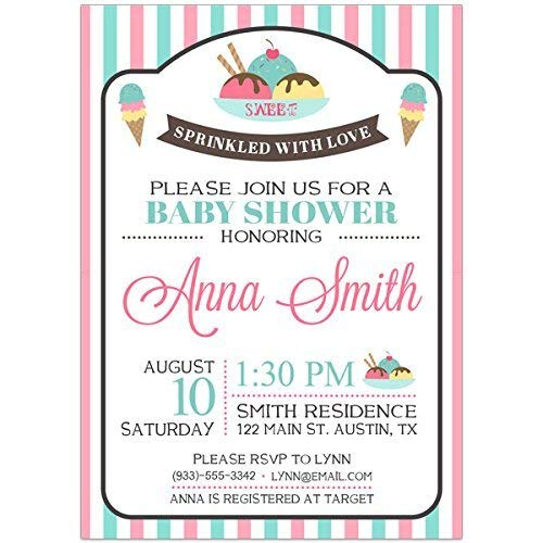 Amazon Sweet Welcome Baby Shower Party Invitations Handmade