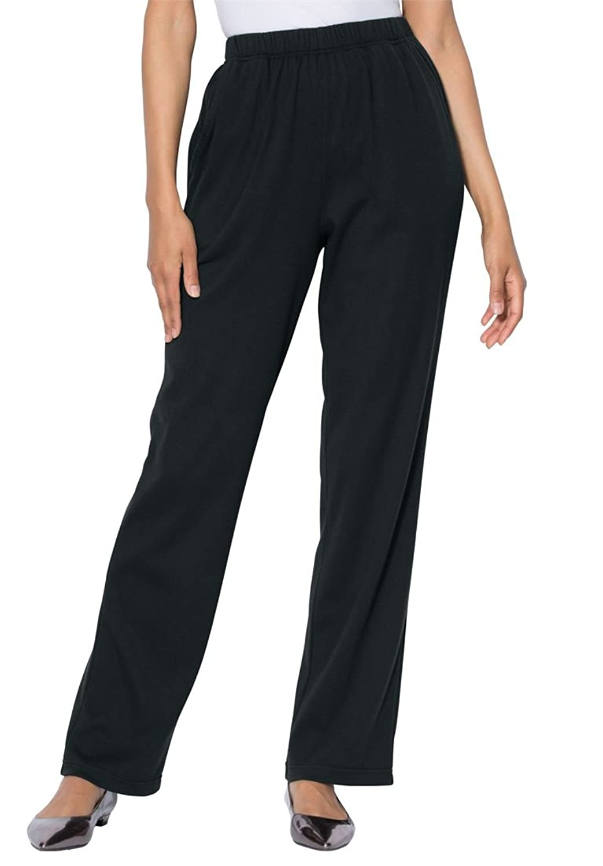 Roamans Women's Plus Size Tall Classic Soft Knit Pants
