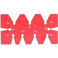 Herramienta de plantilla de ángulo, Herramienta profesional de plantilla de ángulo de aleación de aluminio Calibrador de ángulo Diseño de carpintería Regla de ángulo para proyectos de carpintería