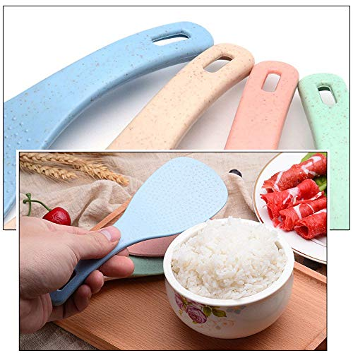 Sujing Rice Paddle Spoon Rice Scoop Rice Serving Spoon Kitchen Tool Rice Spoon (green)