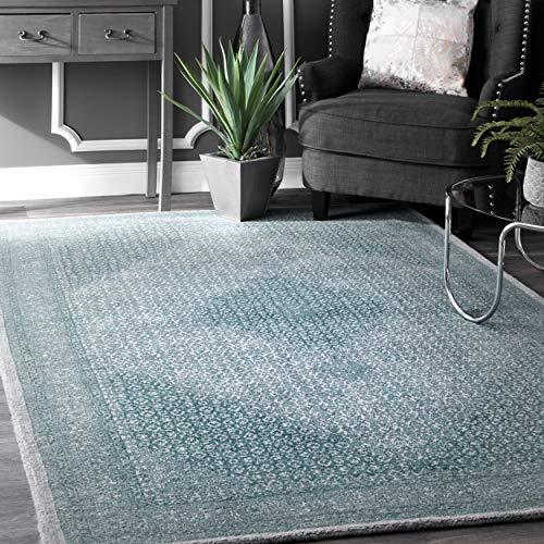 nuLOOM Reese Vintage Wool Rug, 5' x 8', Blue