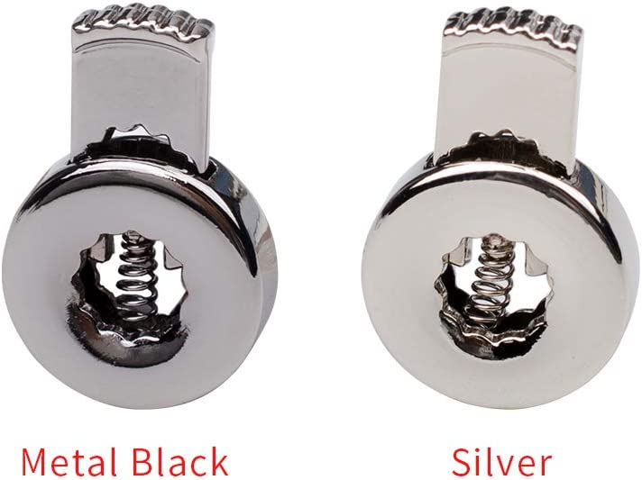 Metal Black,12 PCS iHYAO Metal Cord Locks End Spring Stop Toggle Stoppers,Circle Cord Locks,Lace hole,durable goods