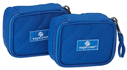 Quilted Luggage Set (Eagle Creek Pack-It Original Quilted Mini Cube(Xs) 2pc Set, Blue Sea)