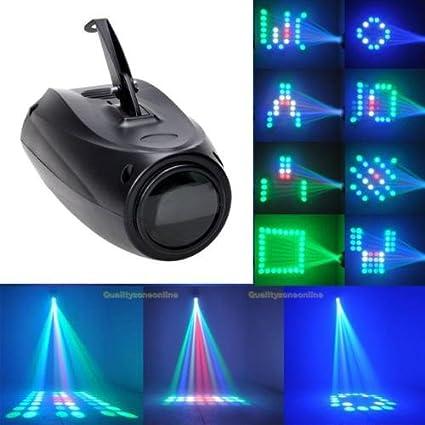 Luces RGBW de 64 Led Proyector de imágenes pequeñas dirigibles por mando.