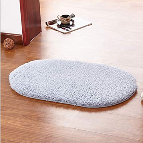 (Wisfren 80 x 50CM Bathroom Carpets Absorbent Non-Slip Soft Memory Plush Shower Mat Bath Bathroom Floor Foam)