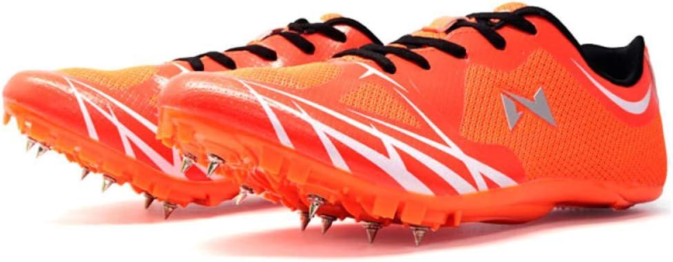 Zapatillas de pista para hombres y mujeres formadores, zapatillas de running para gimnasio, fitness, zapatillas de competición, marcha, jogging, al aire libre, naranja, 45EU: Amazon.es: Hogar