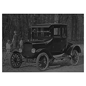 1924 Ford Coupe Model T Automobile Factory Photo