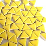 Craft Mosaic tiles - Glazed Ceramic Triangles - Citrus Yellow