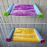 Winter Warm Bird Nest House Hut Bed Hammock Toy for Pet Parrot Parakeet Cockatiel Conure Cockatoo African Grey Eclectus Amazon Lovebird Budgie Finch Canary Hamster Rat Chinchilla Squirrel Cage Perch