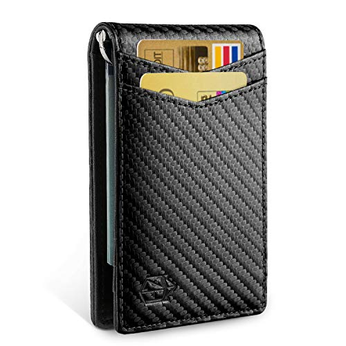 Minimalist Slim Bifold Front Pocket Wallet with Money Clip for men,Effective RFID Blocking & Smart Design