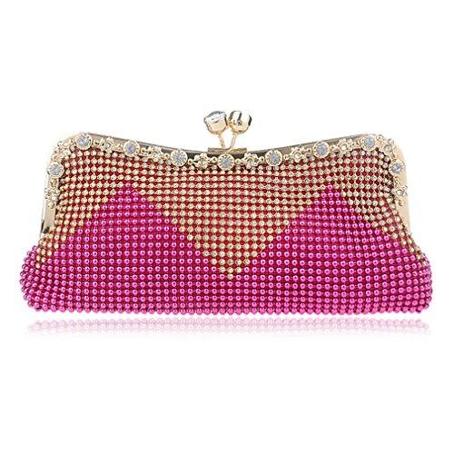 YAN Frauen kuppelt Geldbeutel Taschen-Polyester-Umschlag-Geldbörsen-Abend-Handtaschen-Hochzeits-Modeschau, Geschäft oder das Arbeiten (Color : 6) 5