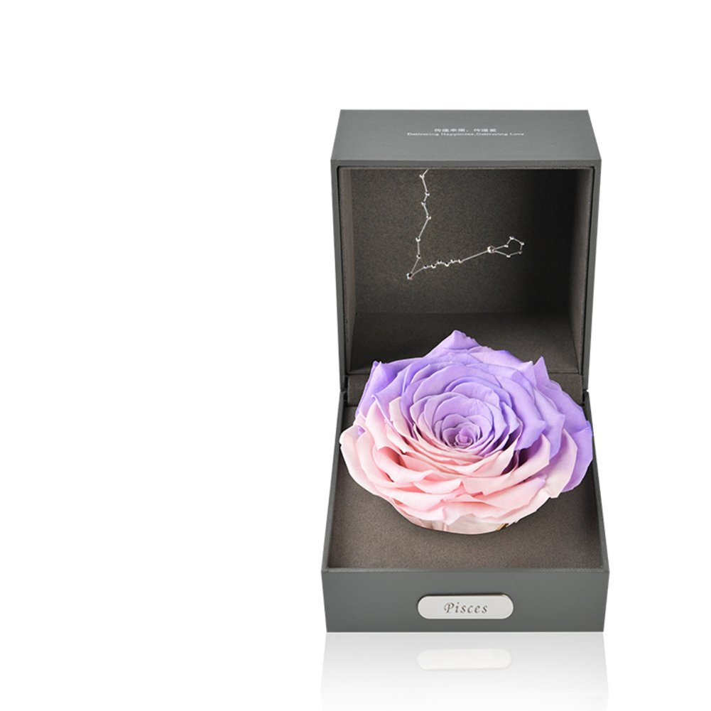 Imported Live Flower Gift Box/Fresh Colorful Roses/ Birthday Gift For Mother's Day-J by Only rose (Image #1)