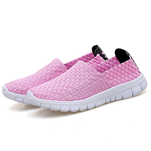 Pink Mens 44 Casual Woven Loafers Womens 35 Shoes Gr Slip On p614pw