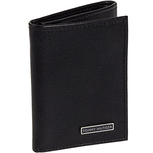 Tommy Hilfiger Men's Pebbled Leather Classic Trifold Wallet - Service Tommy Customer Hilfiger