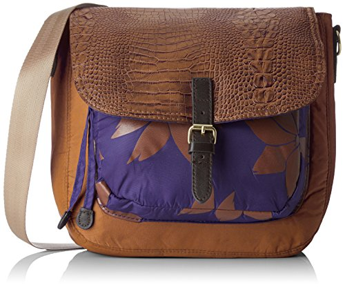 Bensimon satchel bag Borsa Messenger, 30 cm, Marrone (Caramel)