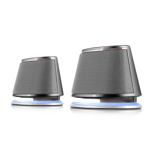 Satechi Dual Sonic Speaker 2.0 Channel Computer Speakers for iMac, 2015 MacBook Pro, MacBook Air, Dell, HP XPS, Sony, Samsung, Asus and more (Silver)