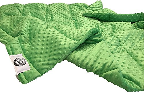 Ultra-Soft Lime Minky Weighted Sensory Blanket -8lb 36x48 by The Weighted Blanket Co. (Image #2)