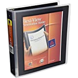 Avery Flexi-View Binders with 1.5-Inch Round Ring, Holds 8.5 x 11 Inches Paper, Black (17637)