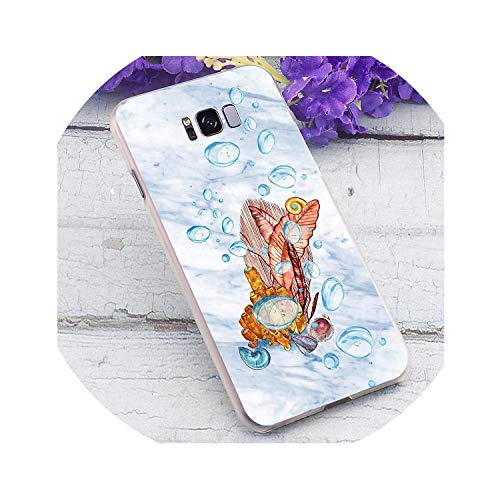 Marble Ocean Hard Cover for Samsung Galaxy A3 Print Phone Case for Samsung Galaxy A30 A40 A50 A70 A3 Back Shell K8,K0600407,for A6 Plus]()
