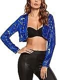 Product review for Zeagoo Long Sleeve Sequin Shrug Bolero Crop Cardigan Top Jacket For Women