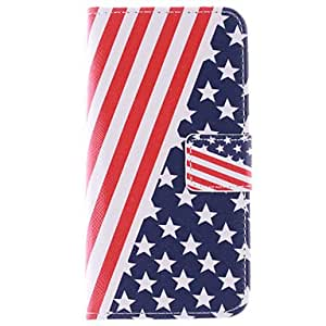 zxc Stars And Stripes Pattern PU Leather Full Body Case with Card Slots And Stand Case for Samsung Galaxy S6 Edge