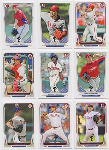 Philadelphia Phillies / 2014 Bowman Baseball Collaborate Set including Base Cards Plus Prospects Plus Chrome Cards