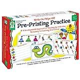 Pre-Printing Practice Manipulative, Ages 4 - 7: Write On/Wipe Off