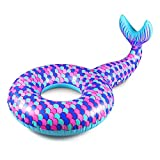 Giant Inflatable Mermaid Swim Circle, Pool Float for Party, Happy Time in Summer (Color : Purple)