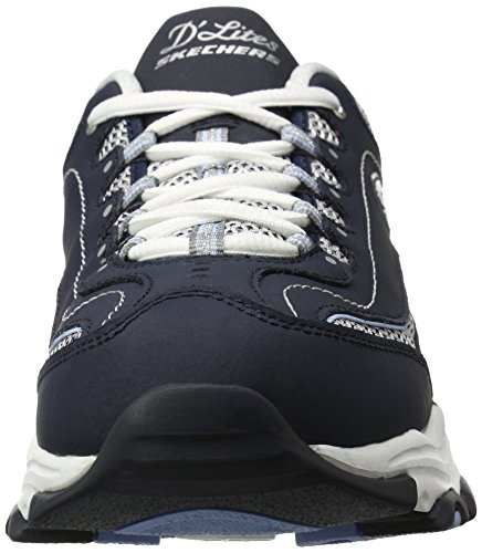 Basket Skechers D'lites Navy light nbsp;centennial Femme white Blue Bleu r6rxEaw