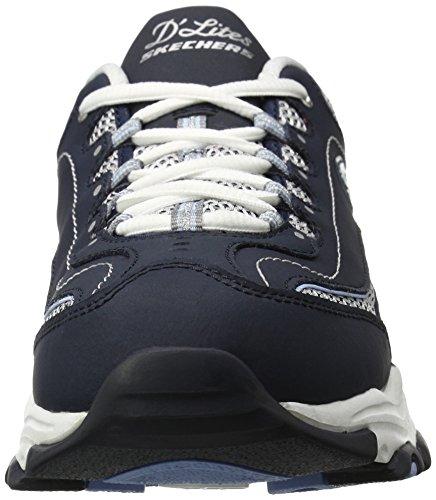 Skechers D'LitesCentennial - Zapatillas de material sintético mujer Navy/White Centennial