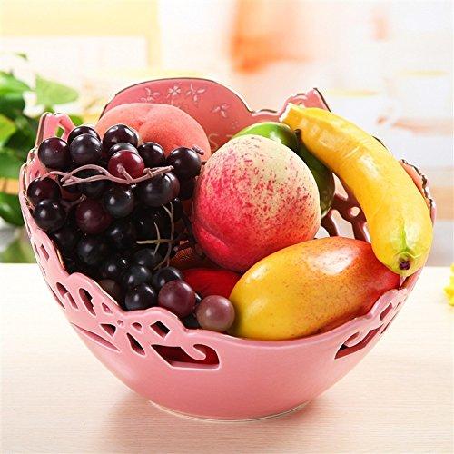 Ceramics Hand-carved Bowls Hollow Bright Fruit Plate Fruit Basket Bulk -